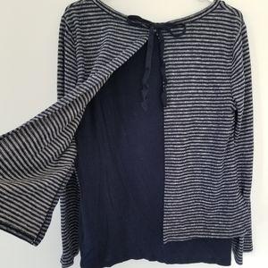 Sunday tie back sweater nautical size medium